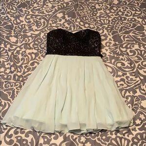 Promgirl black/teal short homecoming/prom dress